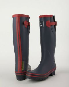 Evercreatures Womens Tall Wellington Boots- Navy